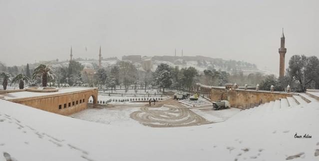 Şanlıurfa'da kar manzaraları