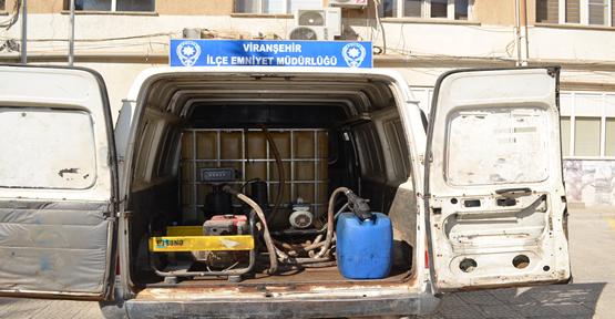 1080 litre kaçak akaryakıt ele geçirildi