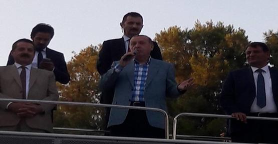 Erdoğan Akçakale'de