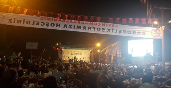 Erdoğan, Şanlıurfalı kardeşlerim Suriyeli kardeşlerine ensar oldular.