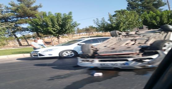 Urfa'da Otomobil Takla Attı,  Yaralı
