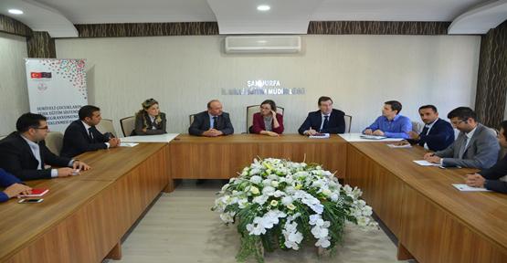 Avrupa Birliği Yetkilileriyle İl Milli Eğitim Müdürlüğünde Toplantı Yapıldı