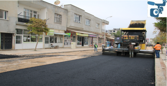 Halfeti'de sıcak asfalt serimi başladı