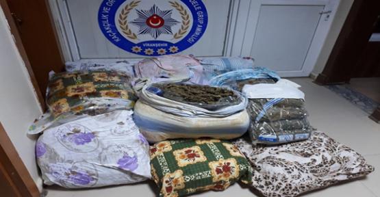 Şanlıurfa'da 120 kilo esrar yakalandı