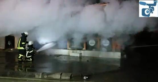 Urfa'da oto yedek parça iş yerinde yangın