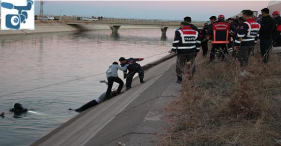 Urfa'da araç kanala düştü, 2 ölü