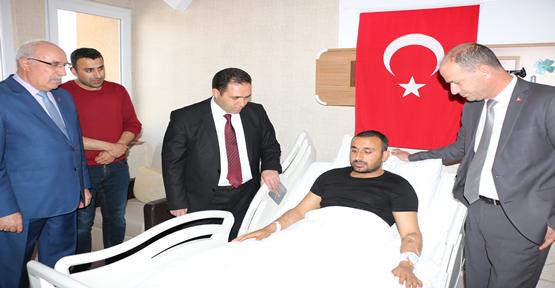 Müdür Bilici; Afrin Gazisini ziyaret etti