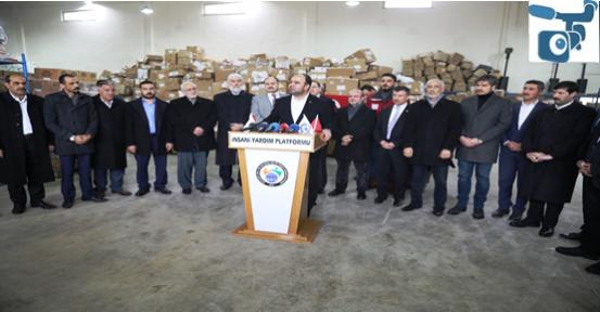 Urfa'dan Afrin'e 5 Tır İnsanı Yardım Gönderildi