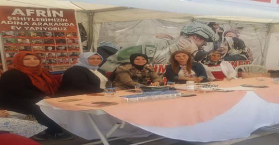 Güven, Afrin Yardım Çadırını Ziyaret Etti