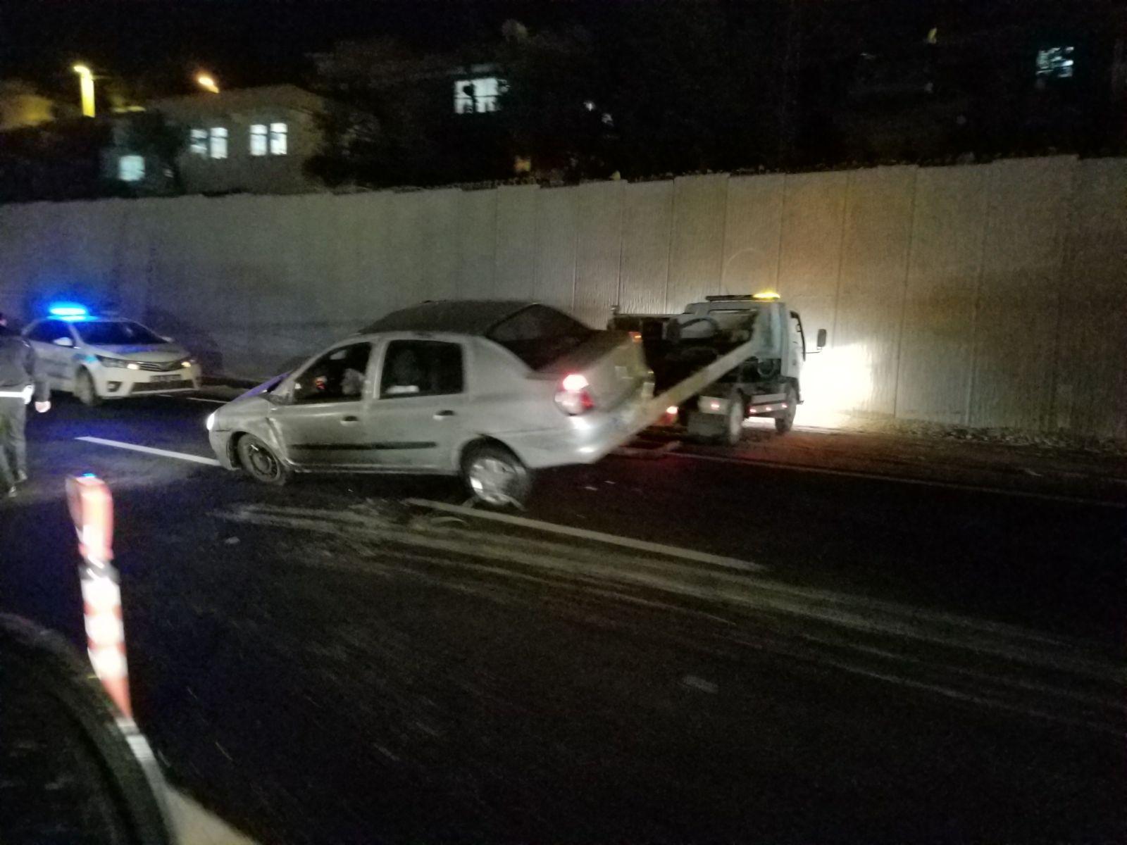 Narlıdere kavşağında kaza