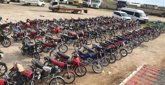 Urfa'da çalıntı 170 motosiklet ele geçirildi
