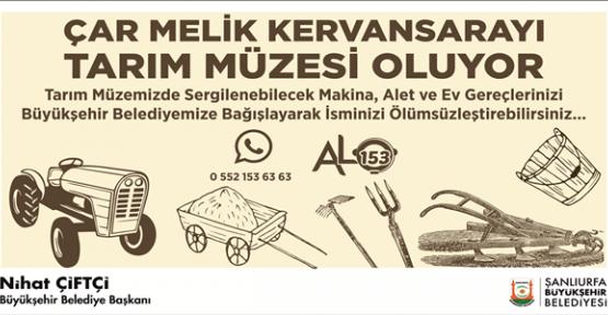 Urfa'da Türkiye'nin En Büyük Tarım Müzesi'ni Kuruyor