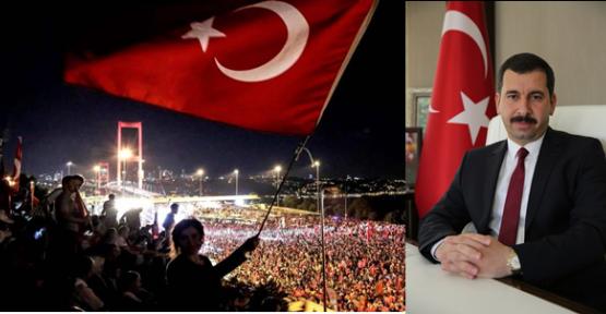 """Başkan Baydilli: """"15 Temmuz Vatanı İçin Ölüme Koşarak Gidenlerin Günüdür"""""""