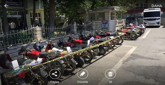 Urfa'da 233  Çalıntı Motosiklet Ele Geçirildi