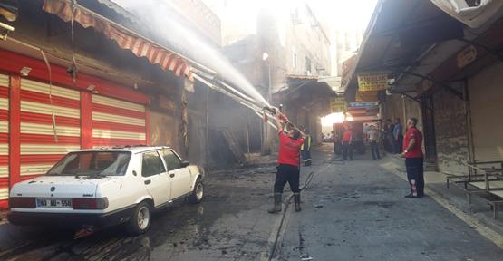 Urfa Tarihi Çarşıda Yangın