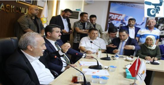 Fakıbaba, Urfa'da Vatandaşlarla Bayramlaştı
