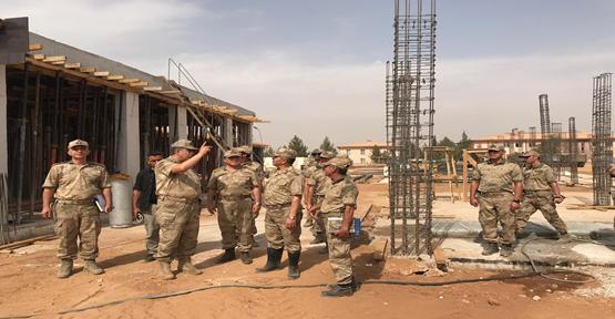Akçakale'de Kalekol Binası İnşaatı Devam Ediyor