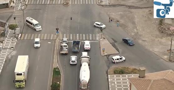 """Urfa'da """"Drone"""" İle Trafik Denetimi"""