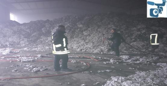 Urfa'da Fabrikada Yangın, Tonlarca Pamuk Kül Oldu