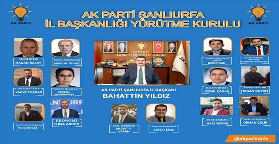 AK Parti Şanlıurfa Yeni  İl Yönetim Kurulu Listesi