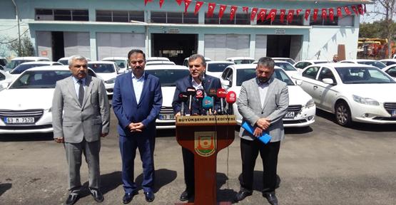 Büyükşehir'de Tasarruf Tedbirleri Araçlarla Başladı