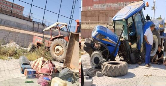 Bozova'da 2 Traktör Çarpıştı!