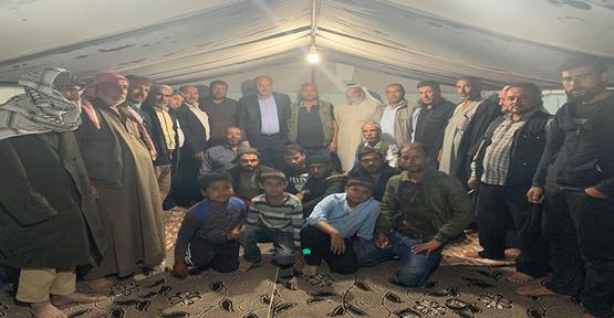 Vekil Özcan Niğde'de Urfalıların Çadırlarını Ziyaret Etti