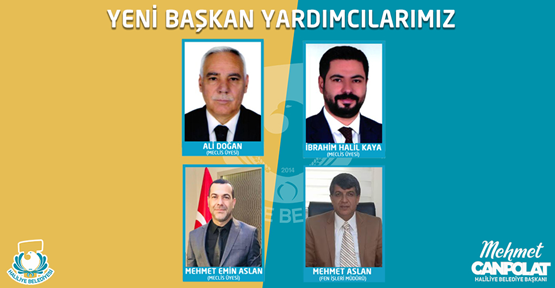 Haliliye Belediyesine 4 Yeni Belediye Başkan Yardımcısı