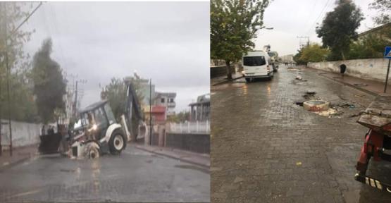 Urfa'da Yağışlar Etkili Oldu, Yol Çöktü