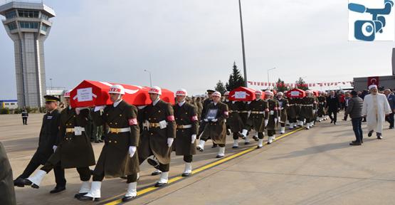 Suriye'de Şehit Olan 4 Asker Memleketlerine Uğurladı