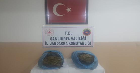Akçakale'de 21 kilogram esrar ele geçirildi