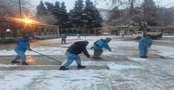 Eyyübiye Belediyesi Ekiplerinden Kar Nöbeti
