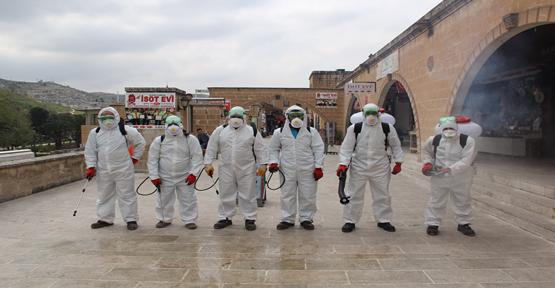 Eyyübiye Belediyesi Dezenfekte Çalışmalarını Sürdürüyor.