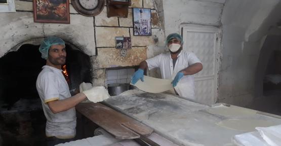Urfa'da Fırıncılarında Korona Tedbiri