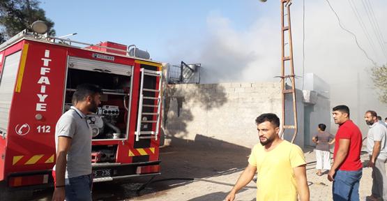 Urfa'da Mesken Yangını