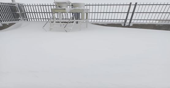 Karacağdağ'da mevsimin ilk karı yağdı