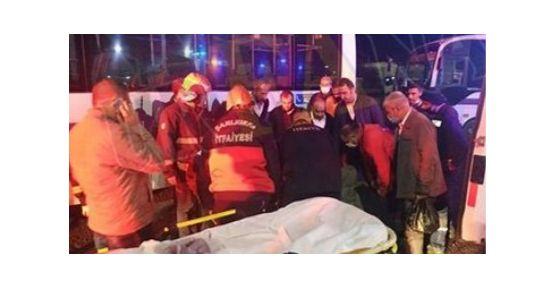 Urfa'da halk otobüsü yayaya çarptı