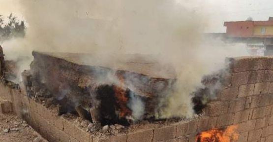 """Urfa""""da mesken yangınında 1 kişi yaralandı"""