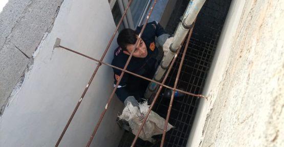 Sanliurfa'da kedi kurtarma operasyonu