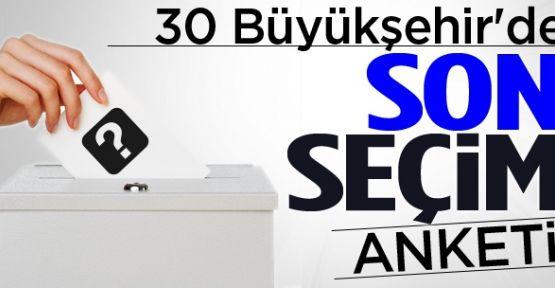 30 Büyükşehir'de son durum