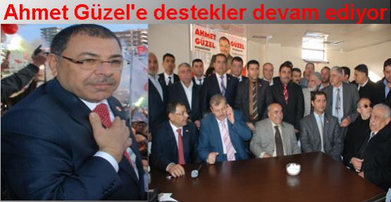 Ahmet Güzel'e destekler devam ediyor