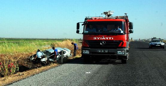 Akçakale yolunda  Trafik Kazası: 4 Yaralı