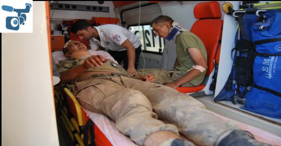 Akçakale'de Askeri araç devrildi: 4 yaralı
