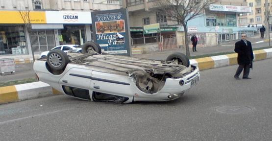 Araç Takla Attı: 1 Kişi Yaralandı
