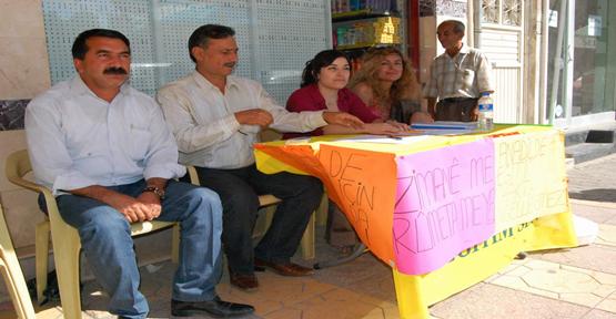 Birecik BDP'den Ana Dilde Eğitime İmza Kampanyası