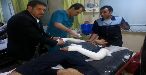 Futbolcunun talihsiz anı Kale direği düştü kolu kırıldı