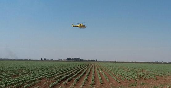 Helikoptere Monte Edilen Ekipmanlarla Ölçüm Yapılıyor