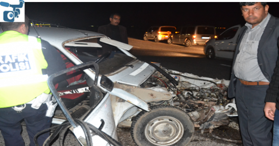 İki araç çarpıştı: 4 kişi yaralandı