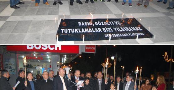 Kesk'ten Meşaleli Protesto