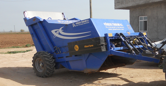 Kıraç Arazilere Taş Toplam Makinesi